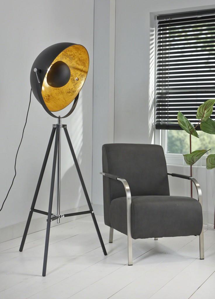 design xl scheinwerfer stativ stehleuchte schirm stahl schwarz. Black Bedroom Furniture Sets. Home Design Ideas